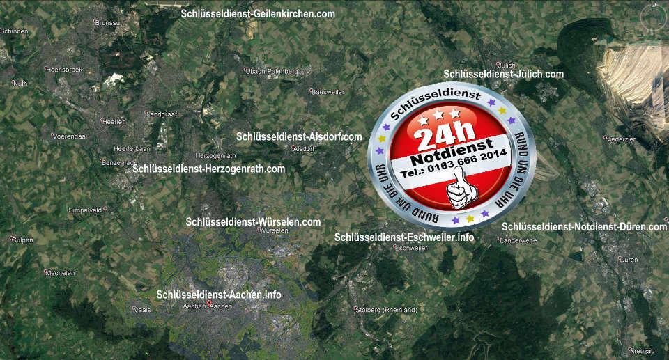 Das Einsatzgebiet vom Notdienst Monteur Karl -