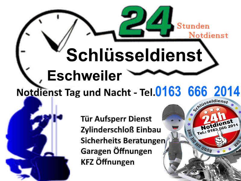 Schlüsseldienst Eschweiler sowie Schlüsseldienst Weisweiler, Schlüsseldienst ST Jöris und Schlüsseldienst Hastenrath und Schlüsseldienst Dürwiss zum Festpreis