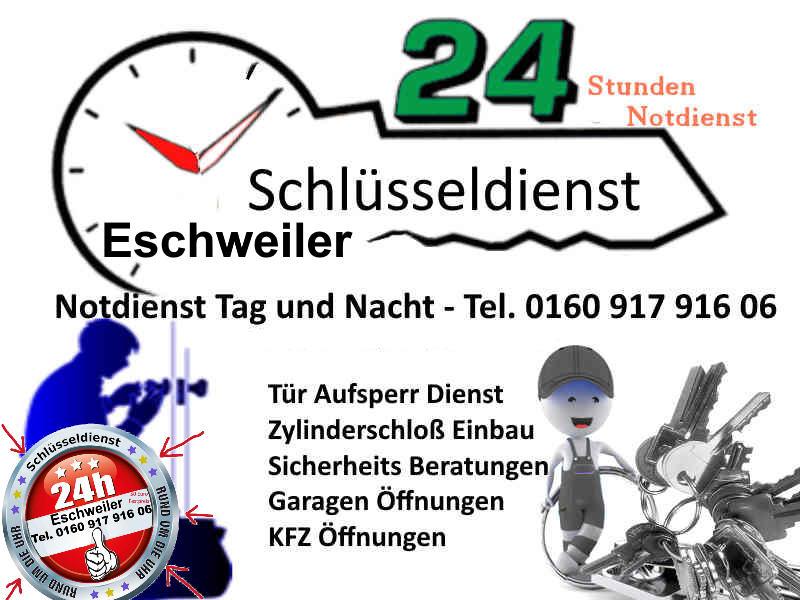 Schlüsseldienst Weisweiler Eschweiler – 50 Euro Festpreis – Anfahrt Gratis
