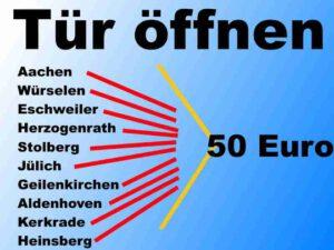 Schlüsseldienst im Kreis Aachen, Heinsberg und Jülich sowie Düren