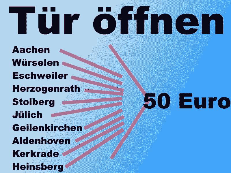 Schlüsseldienst Eschweiler Einsatzgebiete