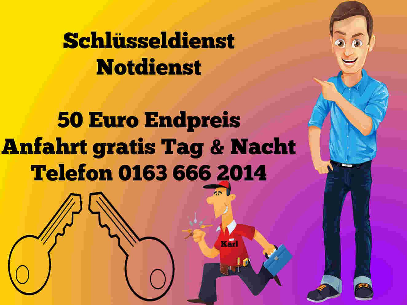 Schlüsseldienst Eschweiler - Tür öffnen 50 Euro Endpreis
