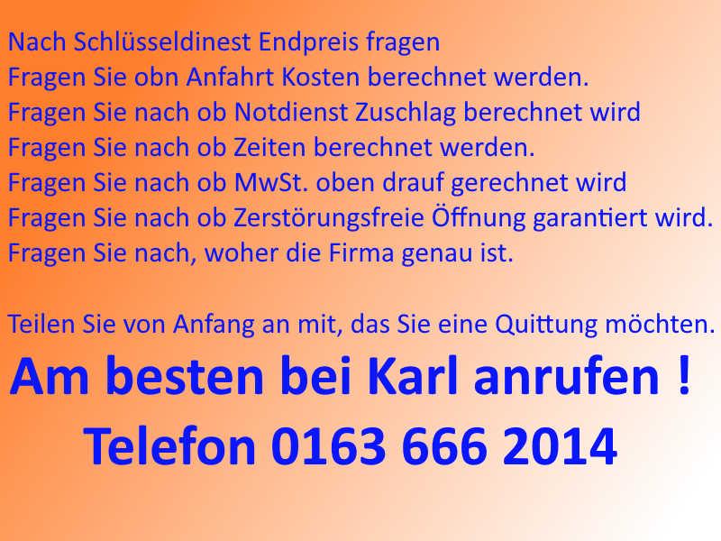 Karl - Schlüsseldienst Eschweiler Tipp